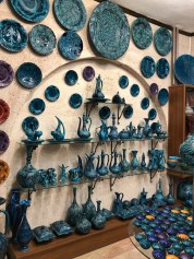 You see this turquoise coloured pottery everywhere.