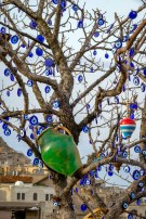 Hanging things on trees is a thing, apparently.