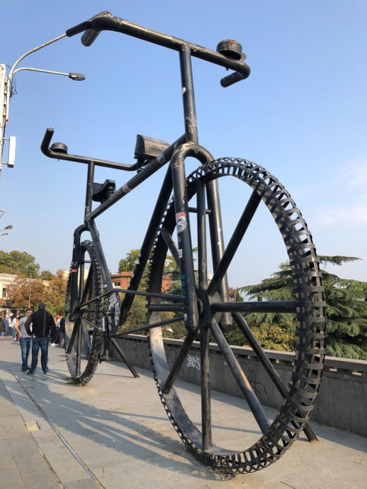 The big bicycle.