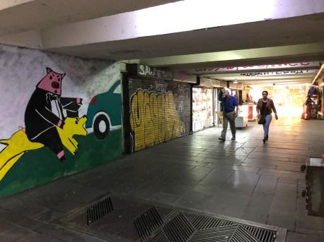 Typical underground passageway.