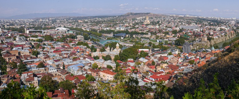 View from Narikala Fortress