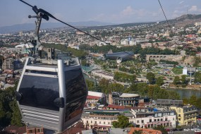 The cable-car ascends very quickly and only costs about $1