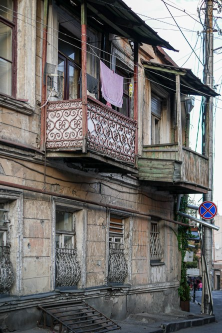 Old houses in old Tbilisi