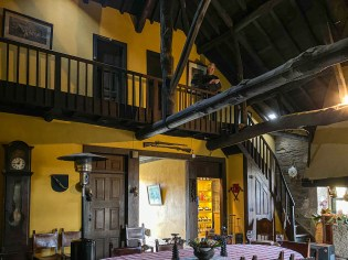 The medieval style dining room