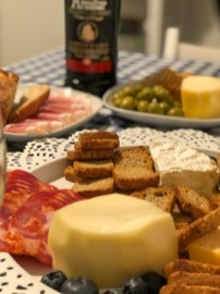 Wine and cheese occurred most evenings