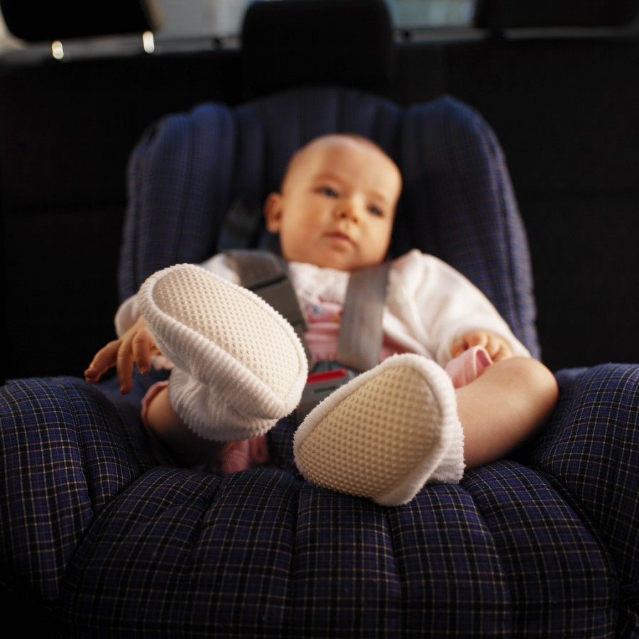Baby (12-18 Months) Sitting in Car Seat