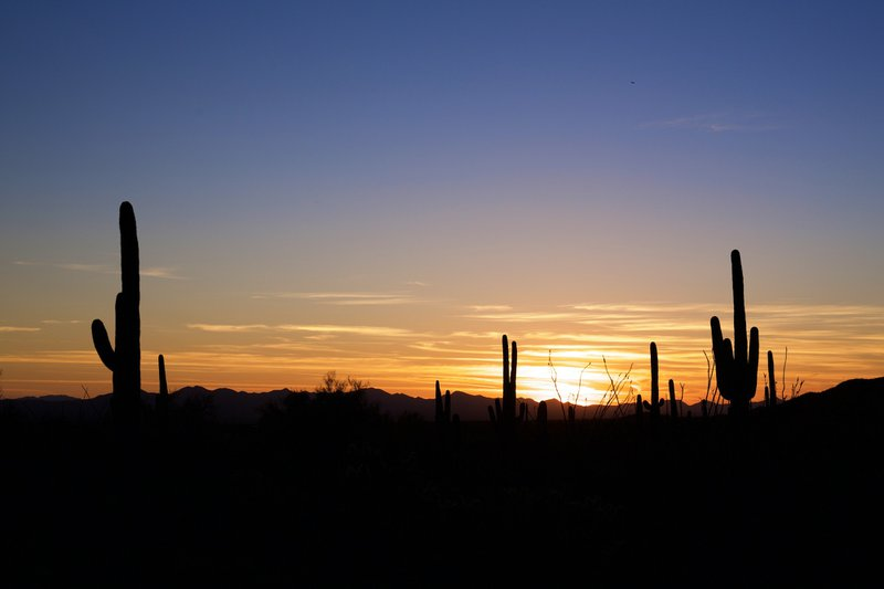 view of an Arizona Sunset