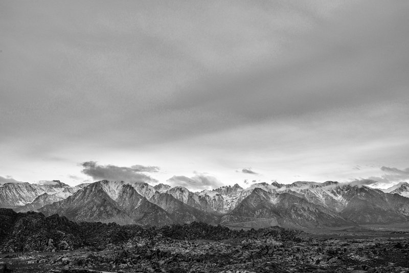 backcountry view from the Alabama Hills, CA