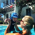 Swimming with our baby boy