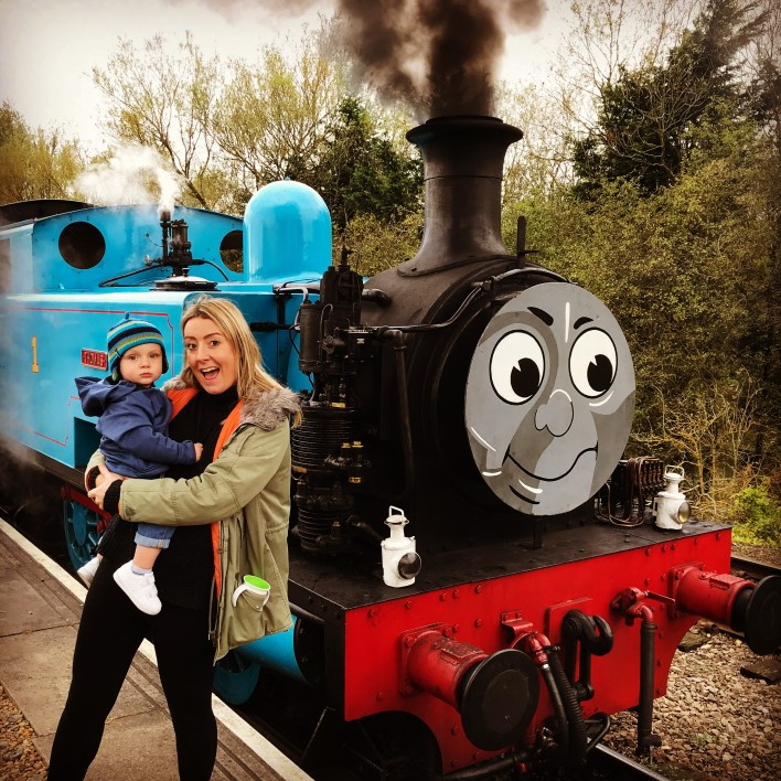Meeting Thomas at Nene Valley Railway