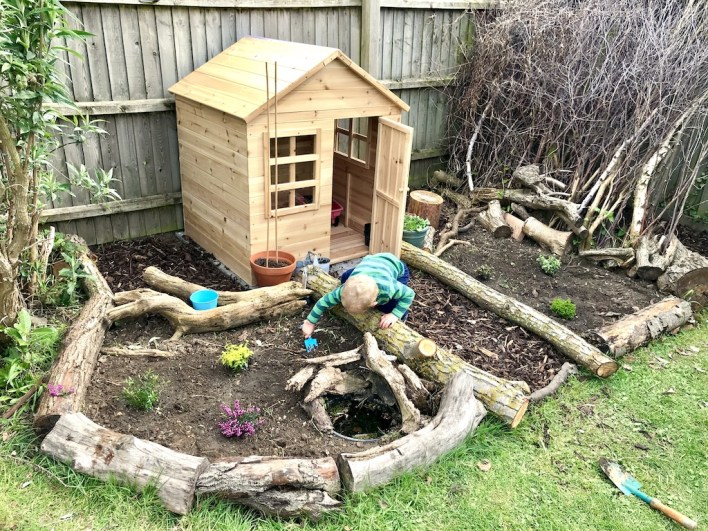 Toddler playhouse garden