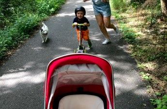 walking with babies and toddlers