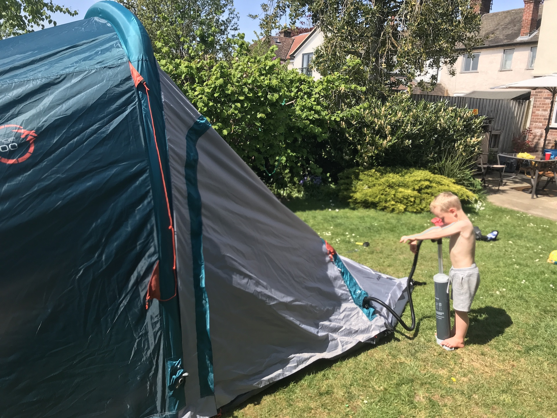are air tents good for family camping