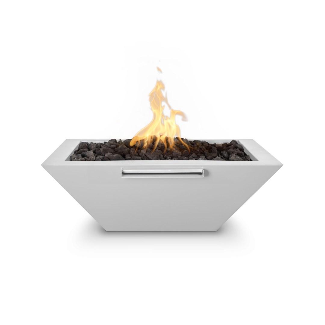 Maya Fire & Water Bowl - Powder Coat White