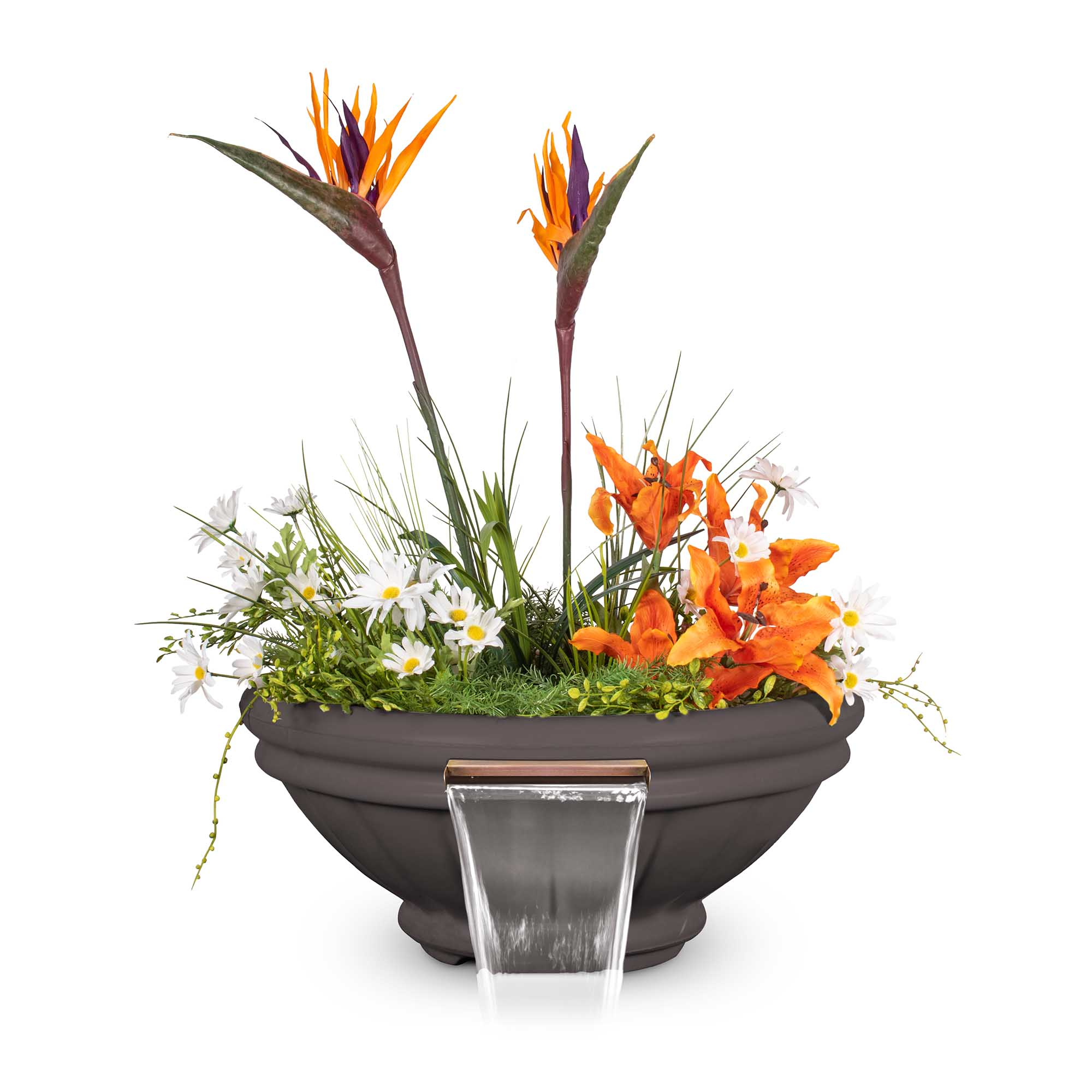 Roma GFRC Planter Water Bowl - Chestnut