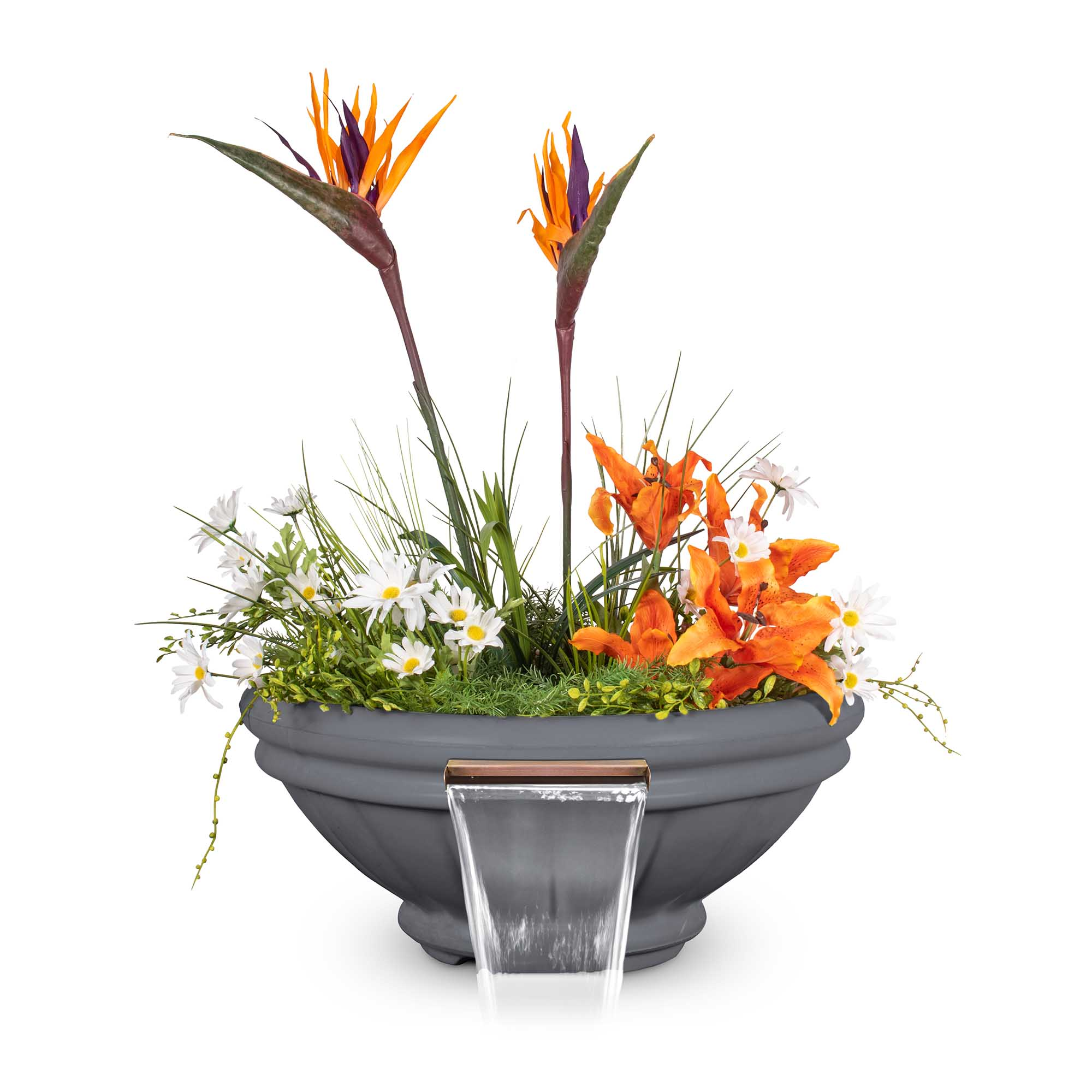 Roma GFRC Planter Water Bowl - Gray