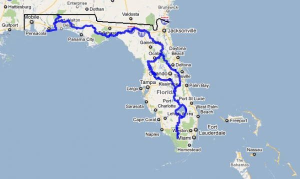Tips For Hiking The Florida Trail Outdoors Guy: Map Of Florida Trail At Usa Maps