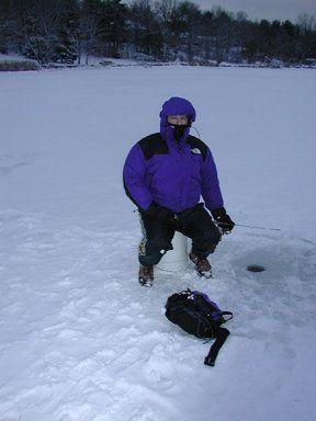 Noah Hochman's first Ice Fishing experience