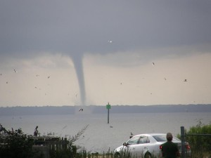 Waterspouts are basically Tornadoes over water