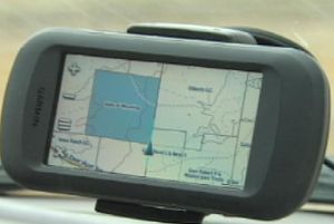 HuntingGPSMap in Car Mount