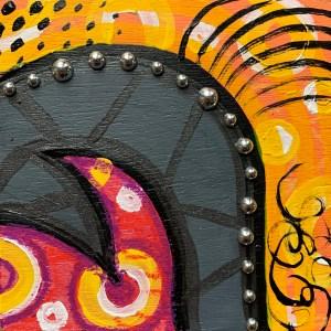 colorful abstract wood block wall art painting