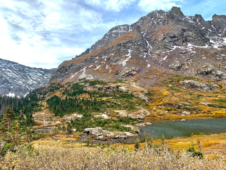 Lower South Colony Lake in front of Broken Hand Peak