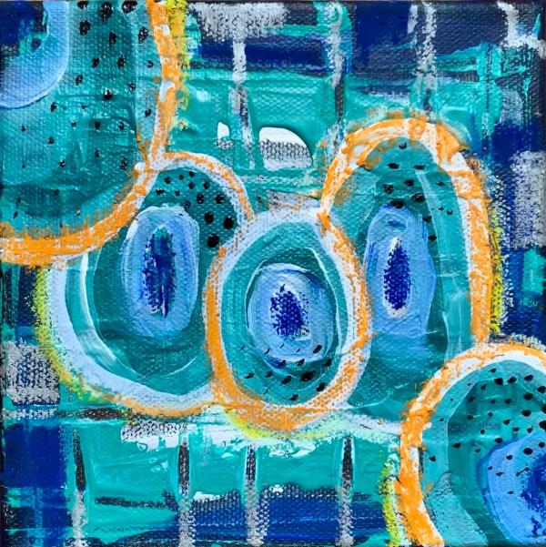 abstract wood block wall art