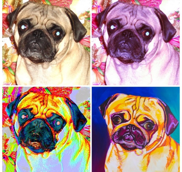pet painting tips: pug mockup images