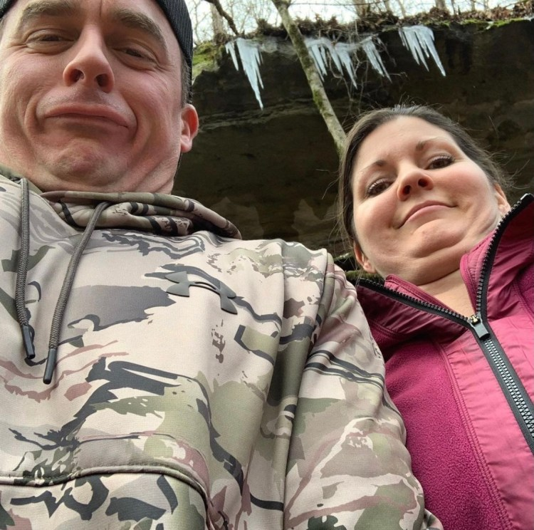 Flattering photo of us while hiking near Eureka Springs Arkansas