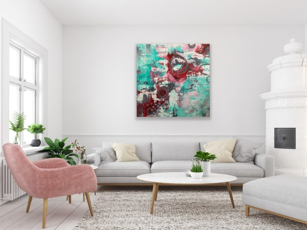 colorful abstract painting for living room