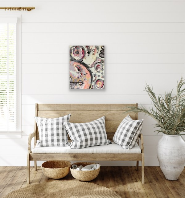 abstract painting for foyer decor