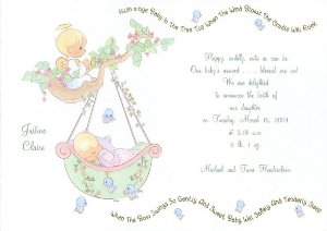 Precious moments invitations for baby shower paperinvite baby shower invitations thank yous precious moments baby shower invitation filmwisefo