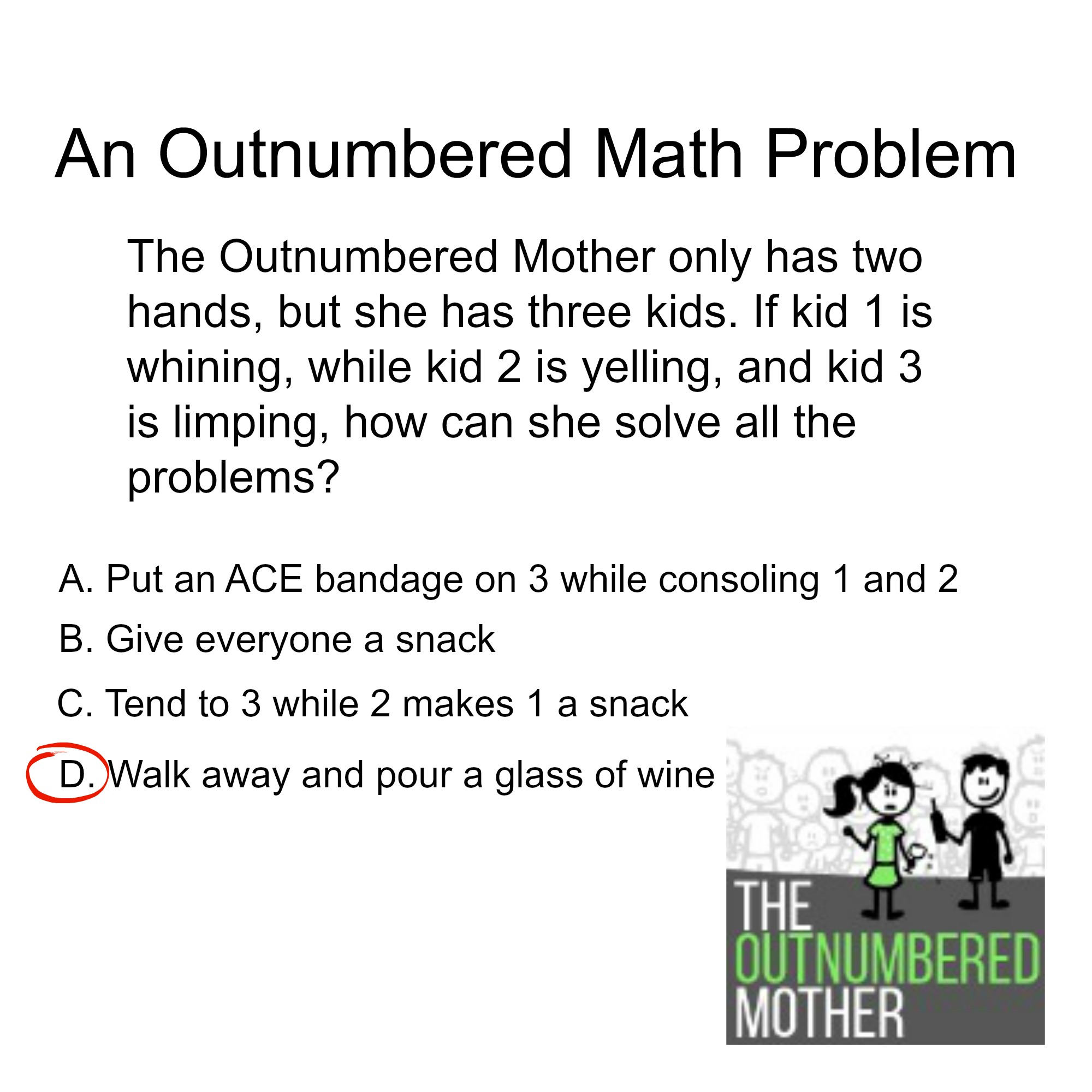 difficult math problems Algebraic word problems e-mail: jdancis@mathumdedu 2 nowtheproblemisthattheunits donot matchup wehaveamountofwork=4hours but workcannot equalhours.