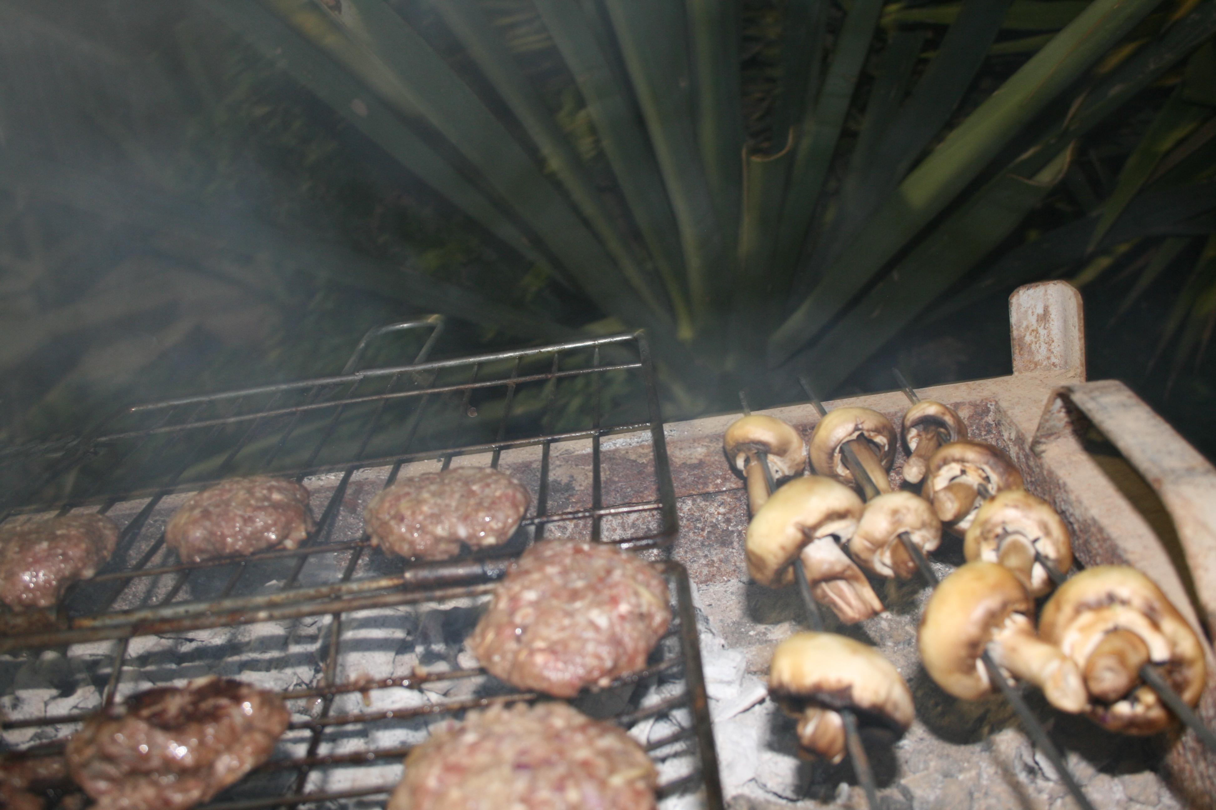 bbqing burgers