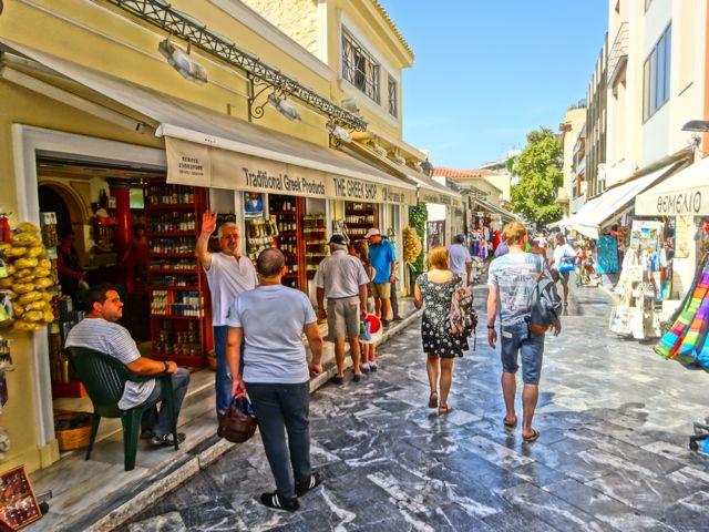 Another pedestrian street in the Athens neighbourhood of La Plaka