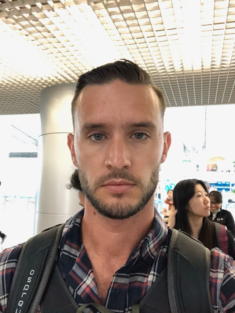 At the Saigon airport looking sexy