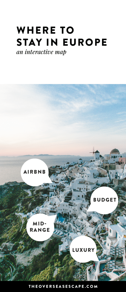 Where to Stay in Europe: The best Airbnbs and hotels in Europe PLUS tons of fun Euro-trip ideas for honeymooners, friend groups, backpackers, families & more!