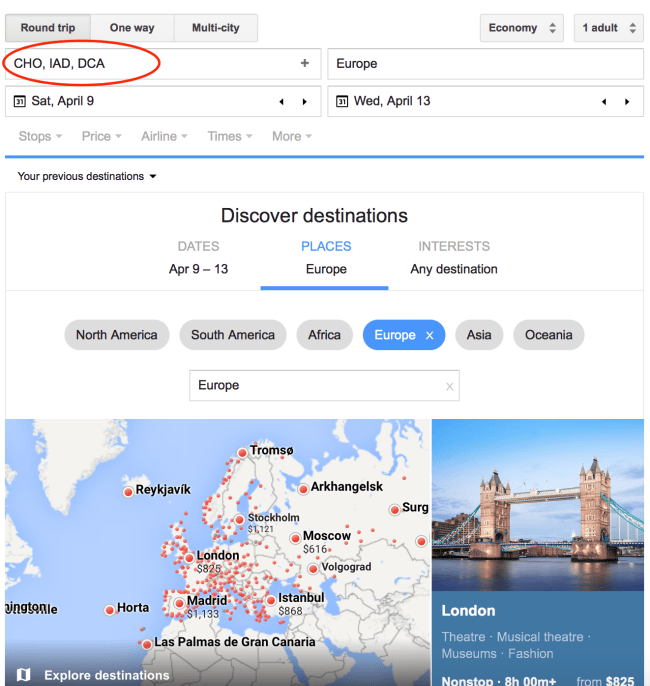 Multiple Departure Point Search - Google Flights 101