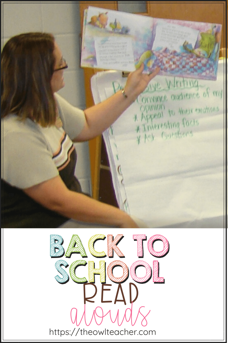 Read Alouds For Back to School