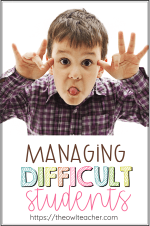 Do you have difficult students in your classroom whose behavior just pushes your buttons? Classroom management does not have to be an issue with these tips and ideas!