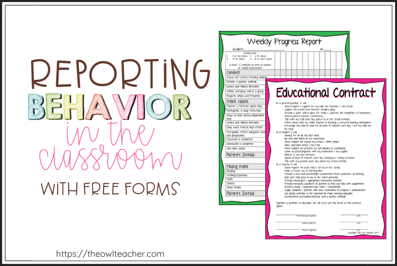 Behavior is one of the biggest classroom management problems teachers face and another is communicating to parents. Use these reporting behavior forms to solve the problem!