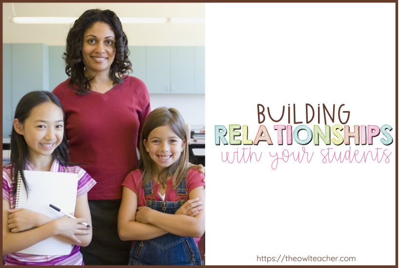One of the best classroom management tricks is to work on building relationships with students! Read these 5 ideas on how you can create a positive classroom and build awesome student relationships!