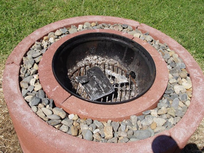 50 fire pit using concrete tree rings fire pit fire