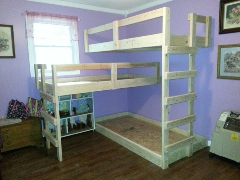 triple bunk bed plans build