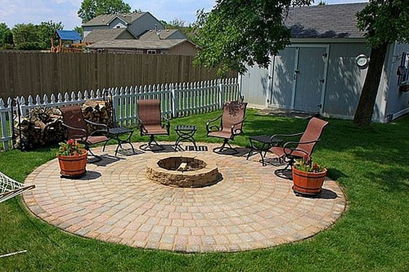 DIY Patio with Fire Pit | The Owner-Builder Network on Backyard Fire Pit Ideas Diy id=74742