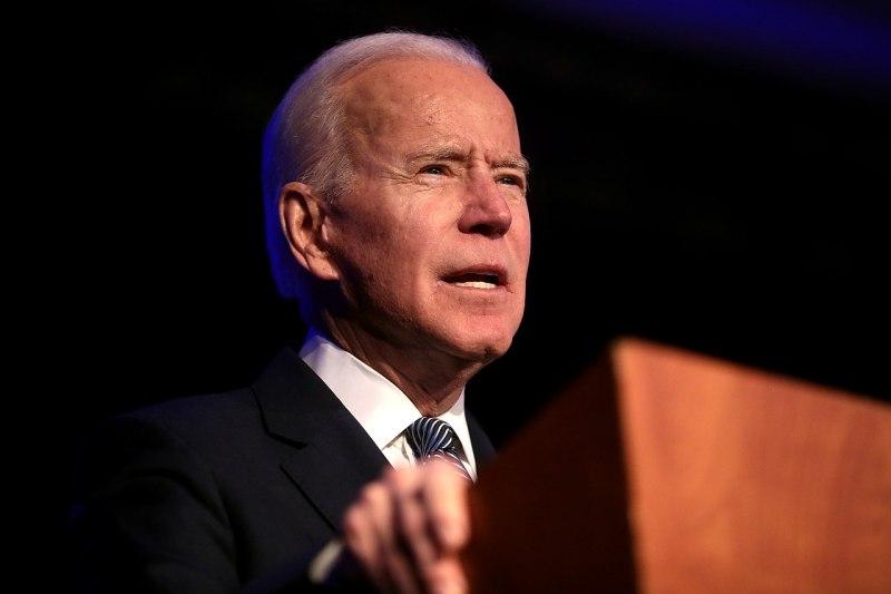 Joe Biden at a lectern.