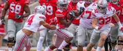 Ohio State Running Back Demario McCall Carries the Ball During the Buckeyes' 2017 Spring Game