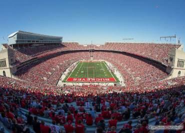 Ohio Stadium on a sunny day in November.