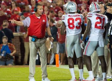 Urban Meyer and Ohio State Buckeyes Receivers