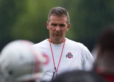 Ohio State Football Urban Meyer at Ohio State Buckeyes Practice